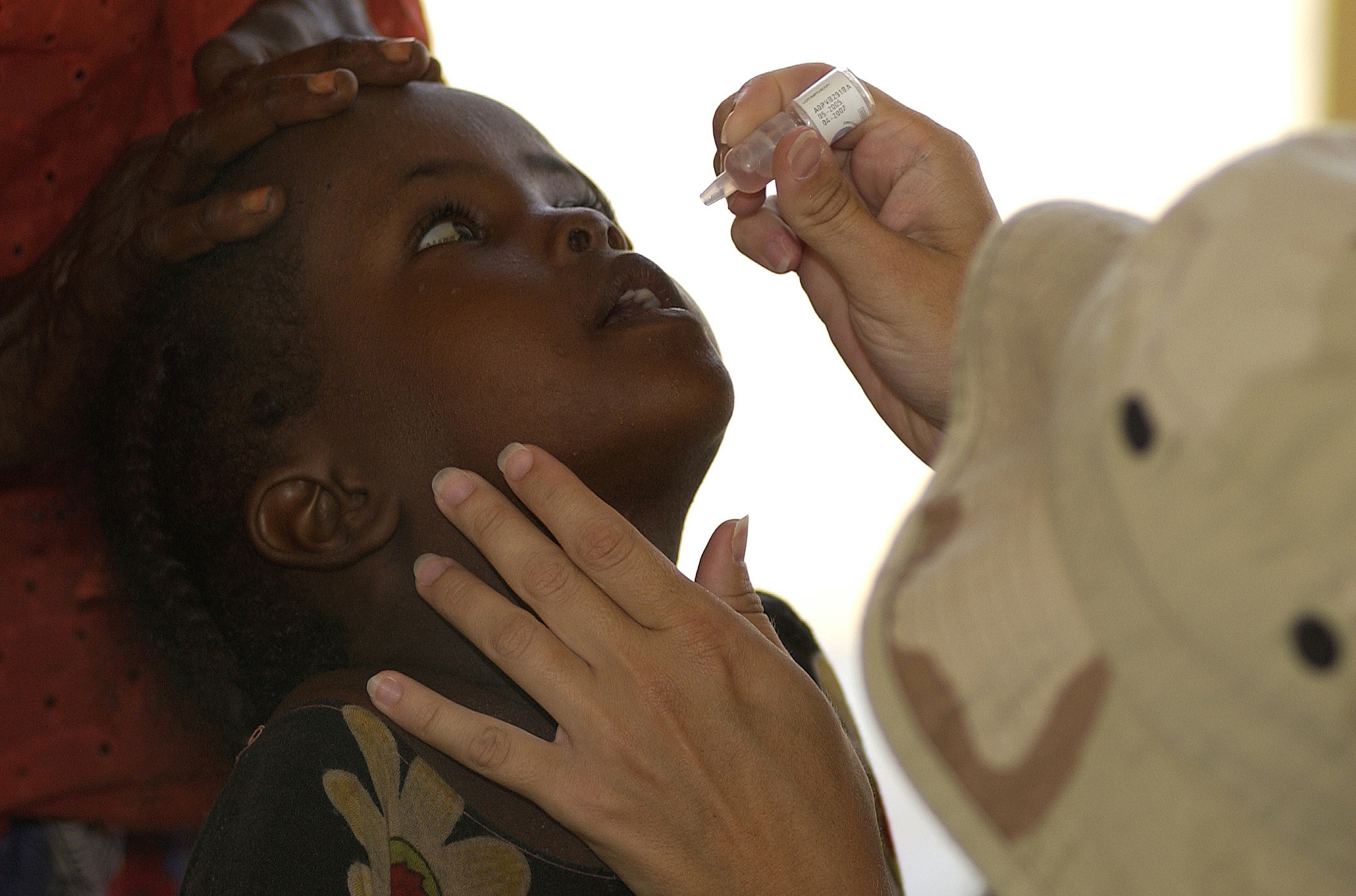 Polio vaccine in Djibouti US Department of Defense photo